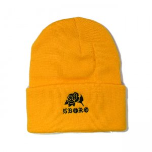 <img class='new_mark_img1' src='//img.shop-pro.jp/img/new/icons5.gif' style='border:none;display:inline;margin:0px;padding:0px;width:auto;' />5BORO ROSE BEANIE / GOLD (ファイブボロ ビーニー/ニットキャップ)