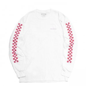 <img class='new_mark_img1' src='//img.shop-pro.jp/img/new/icons5.gif' style='border:none;display:inline;margin:0px;padding:0px;width:auto;' />5BORO CHECKERED DICE L/S TEE / WHITE/RED (ファイブボロ/Tシャツ)