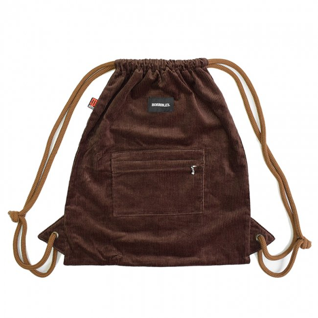 <img class='new_mark_img1' src='//img.shop-pro.jp/img/new/icons5.gif' style='border:none;display:inline;margin:0px;padding:0px;width:auto;' />HORRIBLE'S by STS BAGS CORDUROY KNAPSACK / CHOCOLATE (ホリブルズ ナップサック/バック)