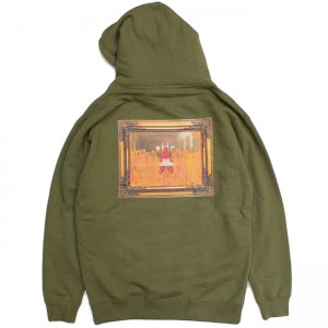<img class='new_mark_img1' src='//img.shop-pro.jp/img/new/icons5.gif' style='border:none;display:inline;margin:0px;padding:0px;width:auto;' />Hellrazor × Shawn Powers Satan Pullover Hoodie / ARMY GREEN (ヘルレイザー パーカー/フーディ)