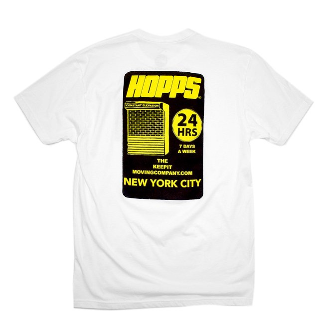<img class='new_mark_img1' src='//img.shop-pro.jp/img/new/icons5.gif' style='border:none;display:inline;margin:0px;padding:0px;width:auto;' />HOPPS 24HRS TEE SHIRT / WHITE (ホップス Tシャツ)