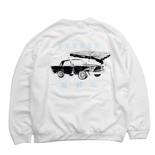 <img class='new_mark_img1' src='//img.shop-pro.jp/img/new/icons5.gif' style='border:none;display:inline;margin:0px;padding:0px;width:auto;' />FEEVERBUG CAR CLUB CREWNECK SWEAT / WHITE (フィバーバグ クルーネック/スウェット)