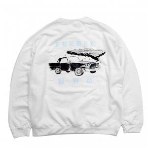 <img class='new_mark_img1' src='https://img.shop-pro.jp/img/new/icons5.gif' style='border:none;display:inline;margin:0px;padding:0px;width:auto;' />FEEVERBUG CAR CLUB CREWNECK SWEAT / WHITE (フィバーバグ クルーネック/スウェット)