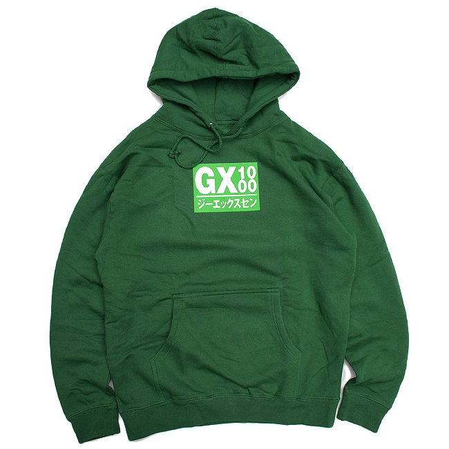 <img class='new_mark_img1' src='//img.shop-pro.jp/img/new/icons5.gif' style='border:none;display:inline;margin:0px;padding:0px;width:auto;' />GX1000 JAPAN LOGO HOODIE / GREEN (ジーエックスセン パーカー / スウェット)