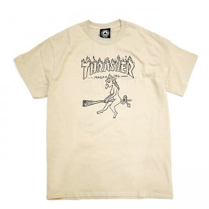 <img class='new_mark_img1' src='https://img.shop-pro.jp/img/new/icons5.gif' style='border:none;display:inline;margin:0px;padding:0px;width:auto;' />THRASHER WITCH TEE / TAN (スラッシャー Tシャツ)