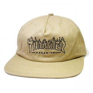 <img class='new_mark_img1' src='https://img.shop-pro.jp/img/new/icons5.gif' style='border:none;display:inline;margin:0px;padding:0px;width:auto;' />THRASHER WITCH SNAPBACK CAP / TAN (スラッシャー 5パネルスナップバックキャップ)