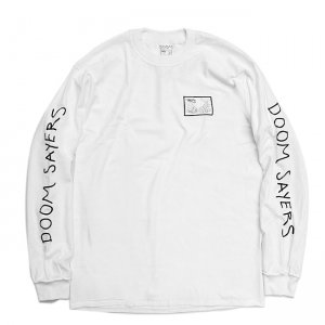 <img class='new_mark_img1' src='https://img.shop-pro.jp/img/new/icons5.gif' style='border:none;display:inline;margin:0px;padding:0px;width:auto;' />DOOM SAYERS INSIDE OUT SNAKE SHAKE L/S TEE / WHITE (ドゥームセイヤーズ Tシャツ/TEE)