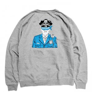 <img class='new_mark_img1' src='//img.shop-pro.jp/img/new/icons5.gif' style='border:none;display:inline;margin:0px;padding:0px;width:auto;' />DOOM SAYERS CORP COP CREWNECK SWEAT / HETHER GREY (ドゥームセイヤーズ スウェット/クルーネック)