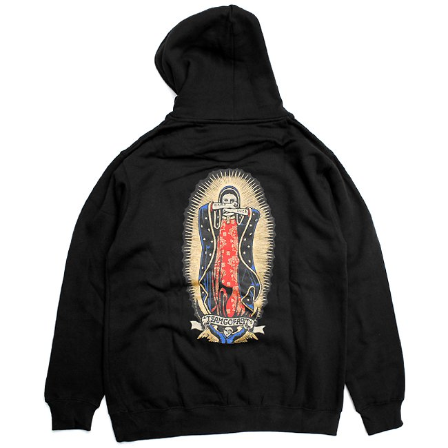 <img class='new_mark_img1' src='//img.shop-pro.jp/img/new/icons5.gif' style='border:none;display:inline;margin:0px;padding:0px;width:auto;' />HARDLUCK LADY G HOODIE / BLACK (ハードラック フーディ/パーカー)