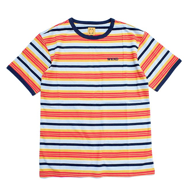 <img class='new_mark_img1' src='//img.shop-pro.jp/img/new/icons5.gif' style='border:none;display:inline;margin:0px;padding:0px;width:auto;' />WKND STRIPE RINGER TEE / NAVY (ウィークエンド ストライプ/ボーダーTシャツ)