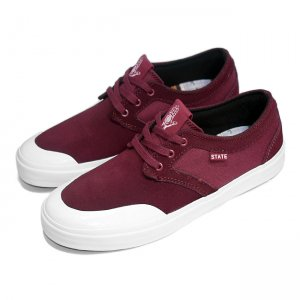 <img class='new_mark_img1' src='https://img.shop-pro.jp/img/new/icons5.gif' style='border:none;display:inline;margin:0px;padding:0px;width:auto;' />THEORIES × STATE FOOTWEAR BISHOP / BLACK CHERRY (ステイト フットウエア スケートシューズ)