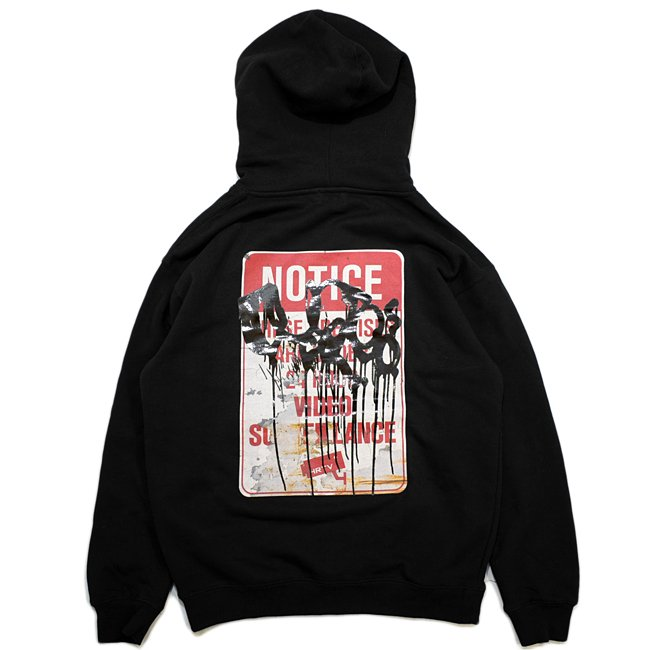 <img class='new_mark_img1' src='//img.shop-pro.jp/img/new/icons5.gif' style='border:none;display:inline;margin:0px;padding:0px;width:auto;' />Hellrazor × RUSTO Surveillance Pullover Hoodie / BLACK (ヘルレイザー パーカー/フーディ)