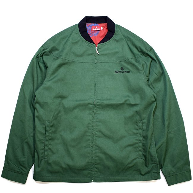 <img class='new_mark_img1' src='//img.shop-pro.jp/img/new/icons5.gif' style='border:none;display:inline;margin:0px;padding:0px;width:auto;' />HELLRAZOR CORE DERBY JACKET / OLIVE (ヘルレイザー ダービージャケット)