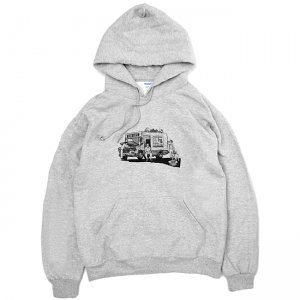 <img class='new_mark_img1' src='https://img.shop-pro.jp/img/new/icons5.gif' style='border:none;display:inline;margin:0px;padding:0px;width:auto;' />OUR LIFE BREAKDOWN PULLOVER HOODIE  / GREY (アワーライフ フーディ/パーカー/スウェット)