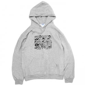 <img class='new_mark_img1' src='https://img.shop-pro.jp/img/new/icons5.gif' style='border:none;display:inline;margin:0px;padding:0px;width:auto;' />OUR LIFE STACKED FACE LIFE HOODIE  / HEATHER GREY (アワーライフ フーディ/パーカー/スウェット)