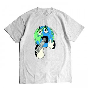 <img class='new_mark_img1' src='//img.shop-pro.jp/img/new/icons5.gif' style='border:none;display:inline;margin:0px;padding:0px;width:auto;' />QUASI WORLD TEE / ASH (クアジ Tシャツ/半袖)