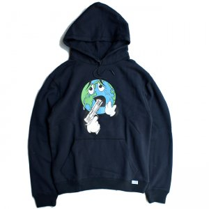 <img class='new_mark_img1' src='//img.shop-pro.jp/img/new/icons5.gif' style='border:none;display:inline;margin:0px;padding:0px;width:auto;' />QUASI WORLD HOOD SWEAT / NAVY (クアジ パーカー フーディー)