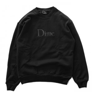 <img class='new_mark_img1' src='//img.shop-pro.jp/img/new/icons5.gif' style='border:none;display:inline;margin:0px;padding:0px;width:auto;' />DIME CLASSIC EMBROIDERED CREWNECK / BLACK (ダイム クルーネック / スウェット)