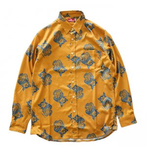 <img class='new_mark_img1' src='//img.shop-pro.jp/img/new/icons5.gif' style='border:none;display:inline;margin:0px;padding:0px;width:auto;' />HELLRAZOR PAISLEY DRESS SHIRT /YELLOW (ヘルレイザー 長袖シャツ/ドレスシャツ)