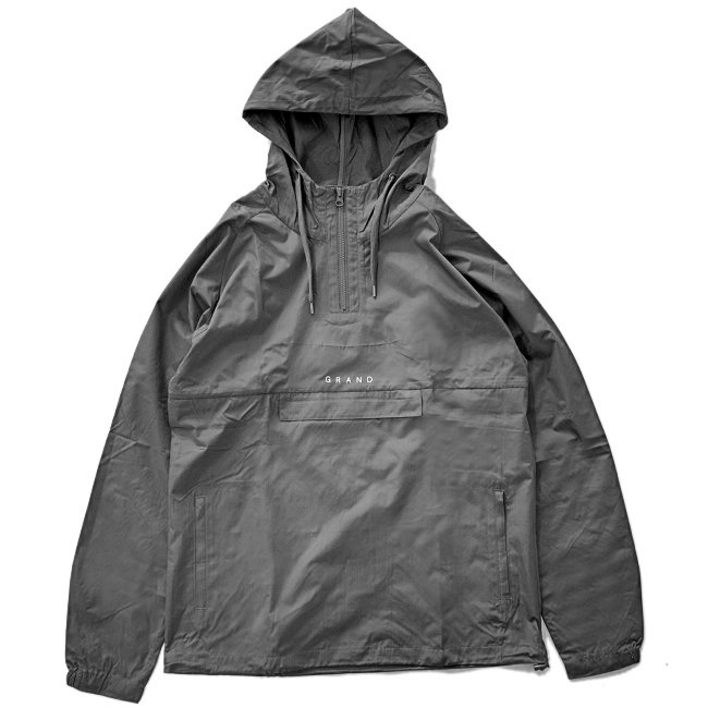 <img class='new_mark_img1' src='https://img.shop-pro.jp/img/new/icons5.gif' style='border:none;display:inline;margin:0px;padding:0px;width:auto;' />GRAND COLLECTION WINDBREAKER / CHARCOAL (グランドコレクション ナイロンジャケット/アノラック)