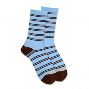 <img class='new_mark_img1' src='//img.shop-pro.jp/img/new/icons5.gif' style='border:none;display:inline;margin:0px;padding:0px;width:auto;' />HORRIBLE'S JAZZ STRIPE SOCKS / L.BLUE/CHOCOLATE (ホリブルズ ソックス)