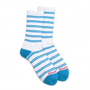 <img class='new_mark_img1' src='//img.shop-pro.jp/img/new/icons5.gif' style='border:none;display:inline;margin:0px;padding:0px;width:auto;' />HORRIBLE'S JAZZ STRIPE SOCKS / WHITE/L.BLUE (ホリブルズ ソックス)