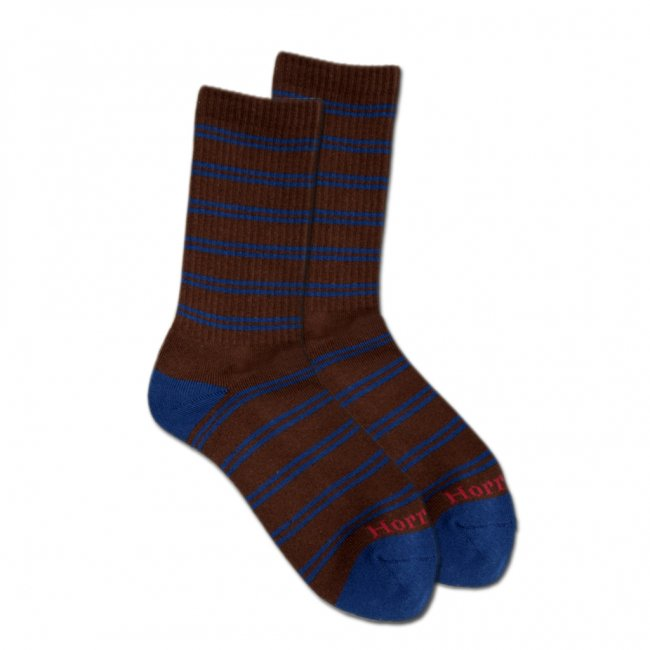 <img class='new_mark_img1' src='//img.shop-pro.jp/img/new/icons5.gif' style='border:none;display:inline;margin:0px;padding:0px;width:auto;' />HORRIBLE'S JAZZ STRIPE SOCKS / CHOCOLATE/NAVY (ホリブルズ ソックス)