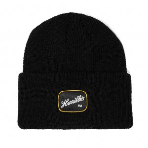 <img class='new_mark_img1' src='//img.shop-pro.jp/img/new/icons5.gif' style='border:none;display:inline;margin:0px;padding:0px;width:auto;' />HORRIBLE'S PACTH RIBBED KNIT CAP /BLACK (ホリブルズ ビーニー/ニットキャップ)
