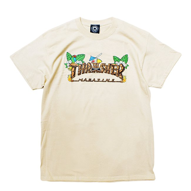 <img class='new_mark_img1' src='//img.shop-pro.jp/img/new/icons5.gif' style='border:none;display:inline;margin:0px;padding:0px;width:auto;' />THRASHER TIKI TEE / SAND (スラッシャー ロゴTシャツ)