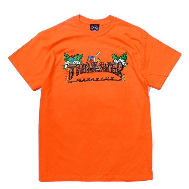 <img class='new_mark_img1' src='//img.shop-pro.jp/img/new/icons5.gif' style='border:none;display:inline;margin:0px;padding:0px;width:auto;' />THRASHER TIKI TEE / SAFETY ORANGE (スラッシャー ロゴTシャツ)