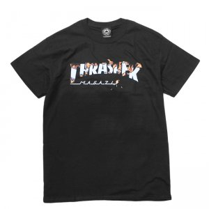 <img class='new_mark_img1' src='//img.shop-pro.jp/img/new/icons5.gif' style='border:none;display:inline;margin:0px;padding:0px;width:auto;' />THRASHER INTRO BURNER TEE / BLACK (スラッシャー ロゴTシャツ)