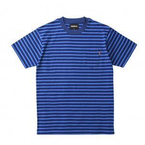 <img class='new_mark_img1' src='//img.shop-pro.jp/img/new/icons5.gif' style='border:none;display:inline;margin:0px;padding:0px;width:auto;' />HORRIBLE'S JUST IN TIME POCKET BORDER T-SHIRT / BLUE×NAVY (ホリブルズ Tシャツ)