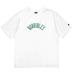 <img class='new_mark_img1' src='//img.shop-pro.jp/img/new/icons5.gif' style='border:none;display:inline;margin:0px;padding:0px;width:auto;' />HORRIBLE'S HERITAGE T-SHIRT / WHITE (ホリブルズ Tシャツ)