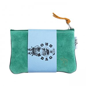 <img class='new_mark_img1' src='https://img.shop-pro.jp/img/new/icons5.gif' style='border:none;display:inline;margin:0px;padding:0px;width:auto;' />BROWNBAG Leather porch / GREEN×NAVY (ブラウンバッグ レザーポーチ)