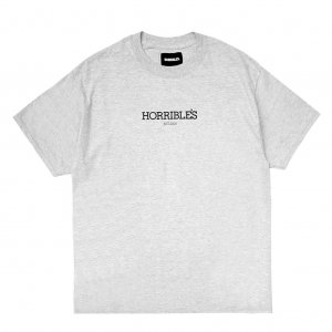 <img class='new_mark_img1' src='//img.shop-pro.jp/img/new/icons5.gif' style='border:none;display:inline;margin:0px;padding:0px;width:auto;' />HORRIBLE'S So.LOGO T-SHIRT / HEATHER GREY (ホリブルズ Tシャツ)