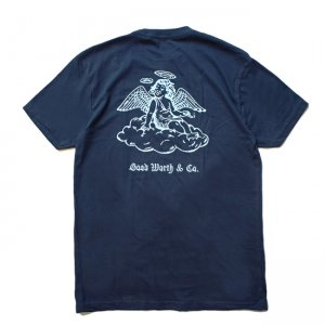 <img class='new_mark_img1' src='//img.shop-pro.jp/img/new/icons5.gif' style='border:none;display:inline;margin:0px;padding:0px;width:auto;' />Good Worth & Co. ANGEL TEE / NAVY (グッドワース Tシャツ)