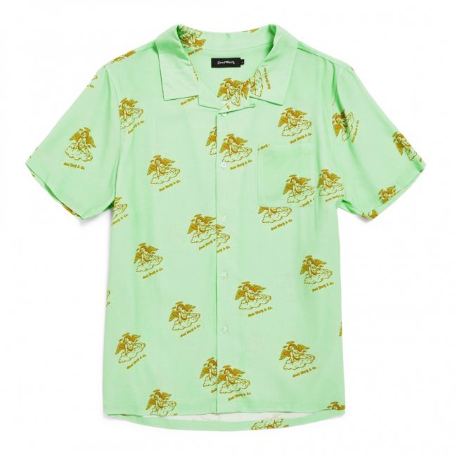 <img class='new_mark_img1' src='//img.shop-pro.jp/img/new/icons5.gif' style='border:none;display:inline;margin:0px;padding:0px;width:auto;' />Good Worth & Co. ANGEL CAMP SHIRT / VINTAGE GREEN (グッドワース 半袖シャツ)