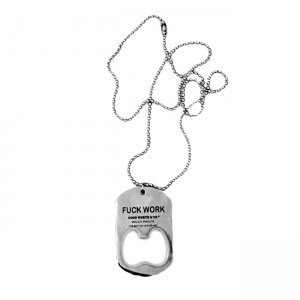 <img class='new_mark_img1' src='https://img.shop-pro.jp/img/new/icons55.gif' style='border:none;display:inline;margin:0px;padding:0px;width:auto;' />Good Worth & Co.FUCK WORK DOGTAG NECKLACE (アクセサリー ネックレス)