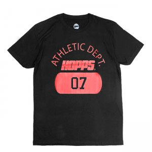 <img class='new_mark_img1' src='https://img.shop-pro.jp/img/new/icons5.gif' style='border:none;display:inline;margin:0px;padding:0px;width:auto;' />HOPPS ATHLETIC DEPT. 07 T-SHIRT / BLACK (ホップス Tシャツ)