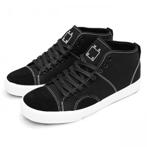 <img class='new_mark_img1' src='https://img.shop-pro.jp/img/new/icons5.gif' style='border:none;display:inline;margin:0px;padding:0px;width:auto;' />WKND × STATE FOOTWEAR HARLEM UP TOWN / Black/Silver Suede/Canvas (ステイト フットウエア スケートシューズ)