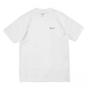 <img class='new_mark_img1' src='https://img.shop-pro.jp/img/new/icons5.gif' style='border:none;display:inline;margin:0px;padding:0px;width:auto;' />GRAND COLLECTION SCRIPT TEE / WHITE (グランドコレクション Tシャツ / 半袖)