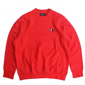 <img class='new_mark_img1' src='https://img.shop-pro.jp/img/new/icons5.gif' style='border:none;display:inline;margin:0px;padding:0px;width:auto;' />GRAND COLLECTION PREMIUM GOOSE CREWNECK SWEAT / RED (グランドコレクション スウェット/クルーネック)