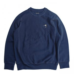 <img class='new_mark_img1' src='https://img.shop-pro.jp/img/new/icons5.gif' style='border:none;display:inline;margin:0px;padding:0px;width:auto;' />GRAND COLLECTION PREMIUM GOOSE CREWNECK SWEAT / NAVY (グランドコレクション スウェット/クルーネック)
