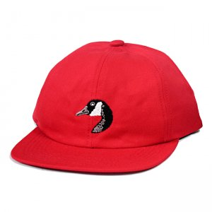 <img class='new_mark_img1' src='https://img.shop-pro.jp/img/new/icons5.gif' style='border:none;display:inline;margin:0px;padding:0px;width:auto;' />GRAND COLLECTION GOOSE EMBROIDERED CAP / RED (グランドコレクション ボールキャップ)