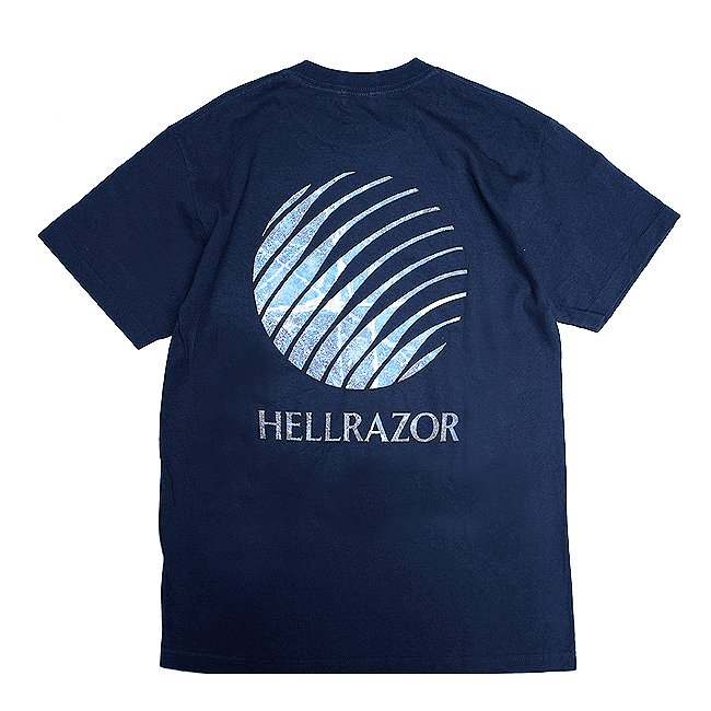 <img class='new_mark_img1' src='//img.shop-pro.jp/img/new/icons5.gif' style='border:none;display:inline;margin:0px;padding:0px;width:auto;' />HELLRAZOR Inferno Logo Shirt / NAVY (ヘルレイザー Tシャツ)