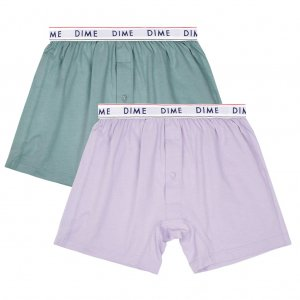 <img class='new_mark_img1' src='//img.shop-pro.jp/img/new/icons5.gif' style='border:none;display:inline;margin:0px;padding:0px;width:auto;' />DIME LOOSE FIT BOXERS 2PACK Green/Light Purple / (ダイム パンツ/ アンダーウェア)