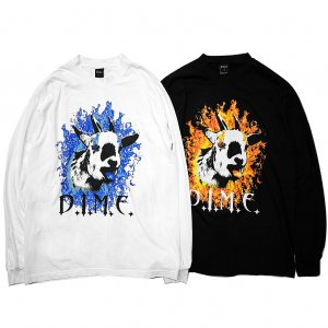 <img class='new_mark_img1' src='//img.shop-pro.jp/img/new/icons5.gif' style='border:none;display:inline;margin:0px;padding:0px;width:auto;' />DIME FIRE GOAT L/S T-SHIRT / (ダイム 長袖 Tシャツ / ロングスリーブ)