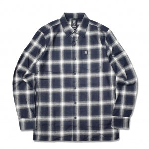 <img class='new_mark_img1' src='//img.shop-pro.jp/img/new/icons5.gif' style='border:none;display:inline;margin:0px;padding:0px;width:auto;' />HARDLUCK THE EIHT L/S FLANNEL SHIRT / NAVY (ハードラック 長袖ネルシャツ)