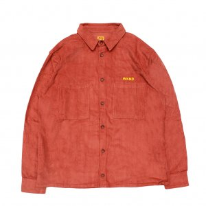 <img class='new_mark_img1' src='//img.shop-pro.jp/img/new/icons5.gif' style='border:none;display:inline;margin:0px;padding:0px;width:auto;' />WKND MAJOR CORD BUTTON SHIRT/ BURGUNDY (ウィークエンド コーデュロイ長袖シャツ)