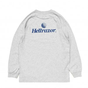 <img class='new_mark_img1' src='//img.shop-pro.jp/img/new/icons5.gif' style='border:none;display:inline;margin:0px;padding:0px;width:auto;' />Hellrazor TRADEMARK LOGO L/S TEE / HEATHER GREY (ヘルレイザー ロングスリーブTシャツ)